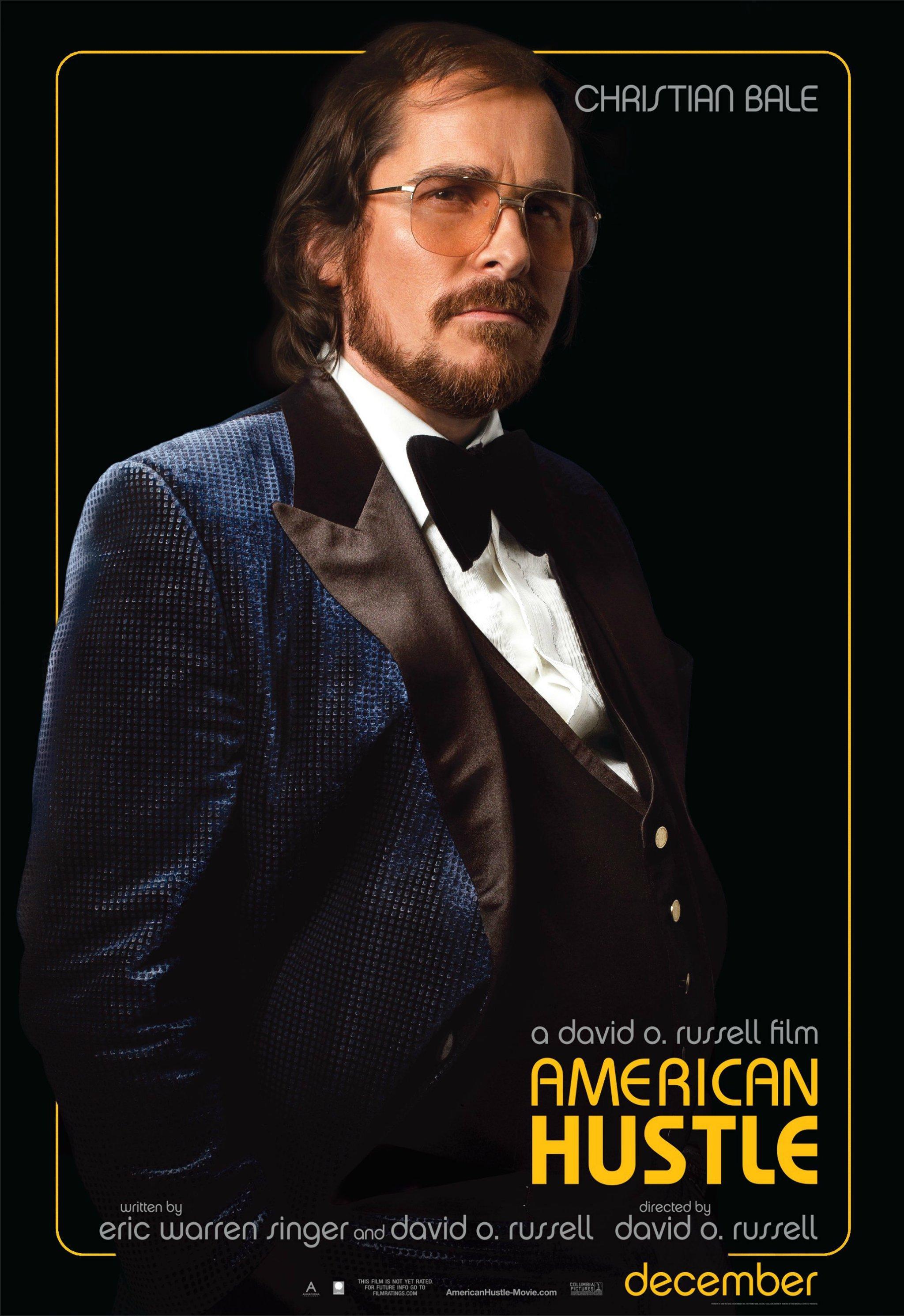 《美国骗局》(American Hustle)角色海报以及预告#2 魔鬼筋肉人贝尔秀暴肥成果