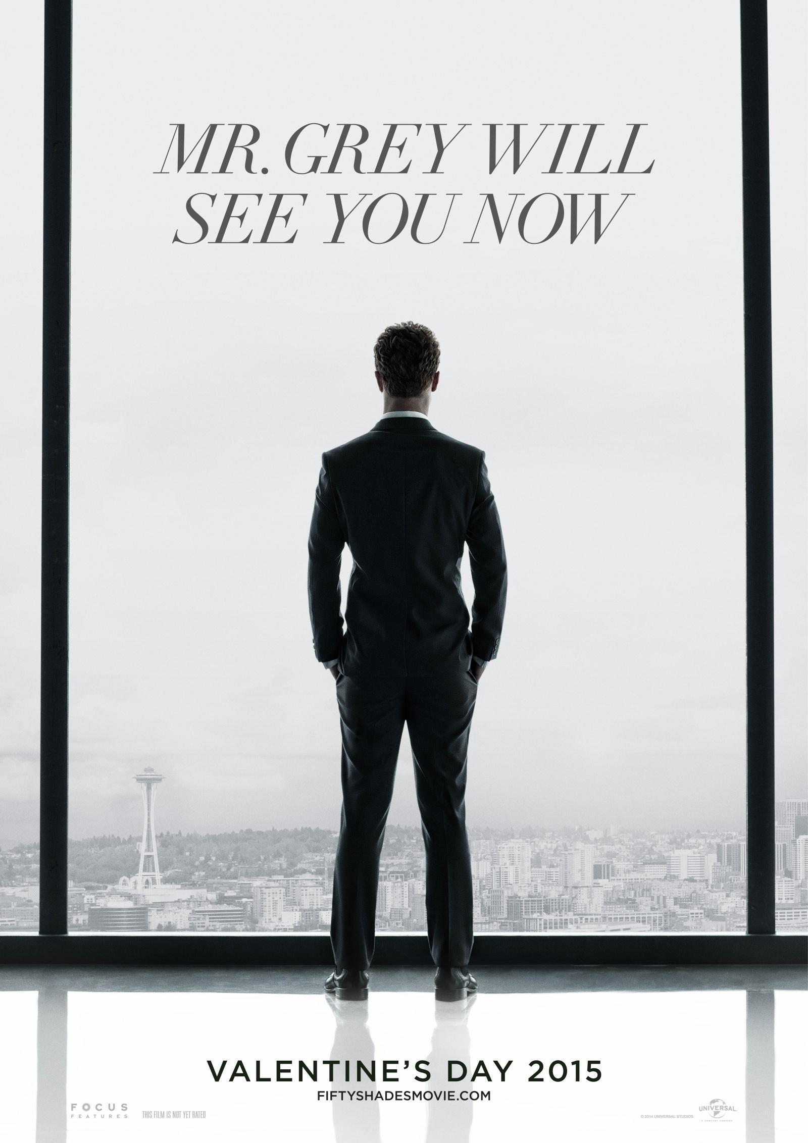 《五十度灰》(Fifty Shades of Grey)首发官方海报 男主高贵冷艳玩神秘