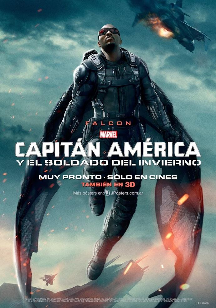 《美国队长2:冬日战士》曝猎鹰海报 将助队长对抗冬兵