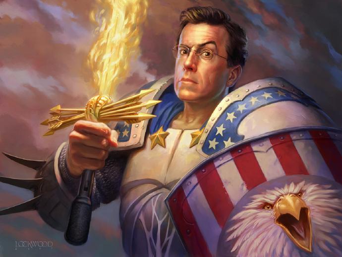 """""""扣扣熊""""史蒂芬·科尔伯特(Stephen Colbert)接班大卫·莱特曼出任《深夜秀》主持人"""