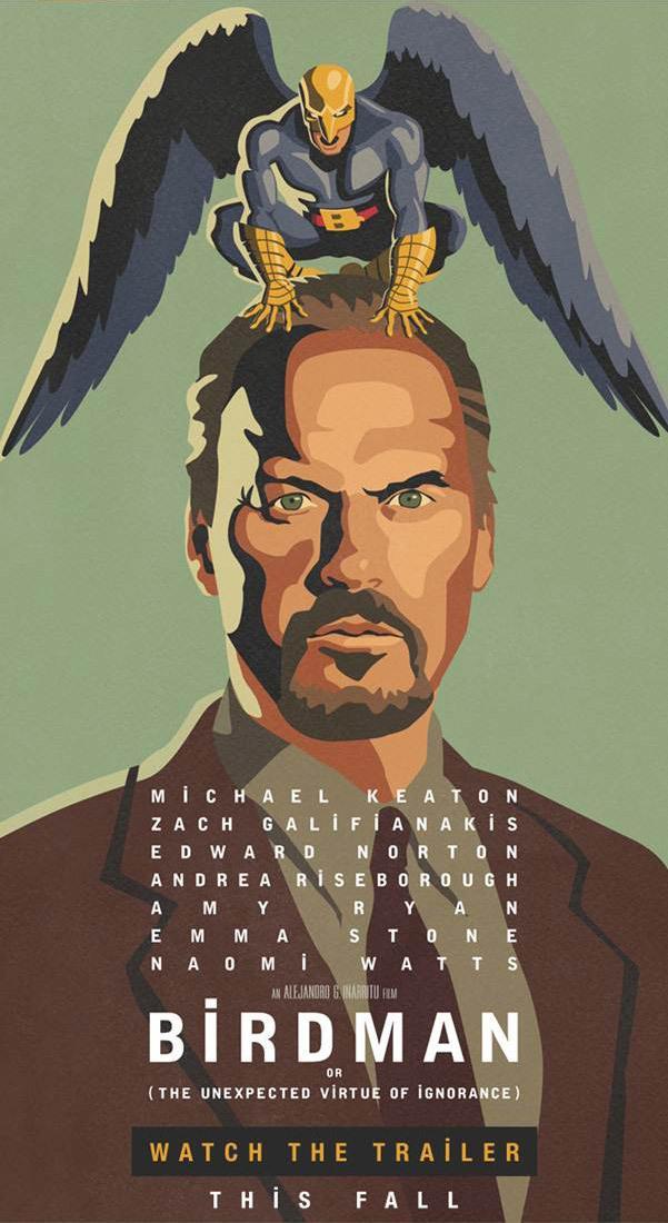 """《通天塔》导演新作《鸟人》(Birdman)预告 群星上演落魄""""超级英雄""""荒诞剧"""