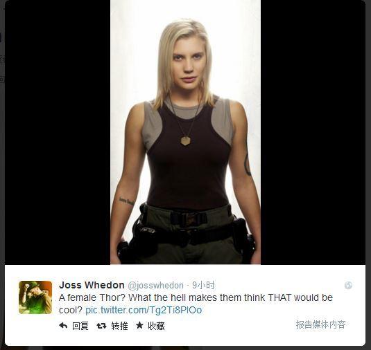 乔斯·韦登在Twitter上的回应