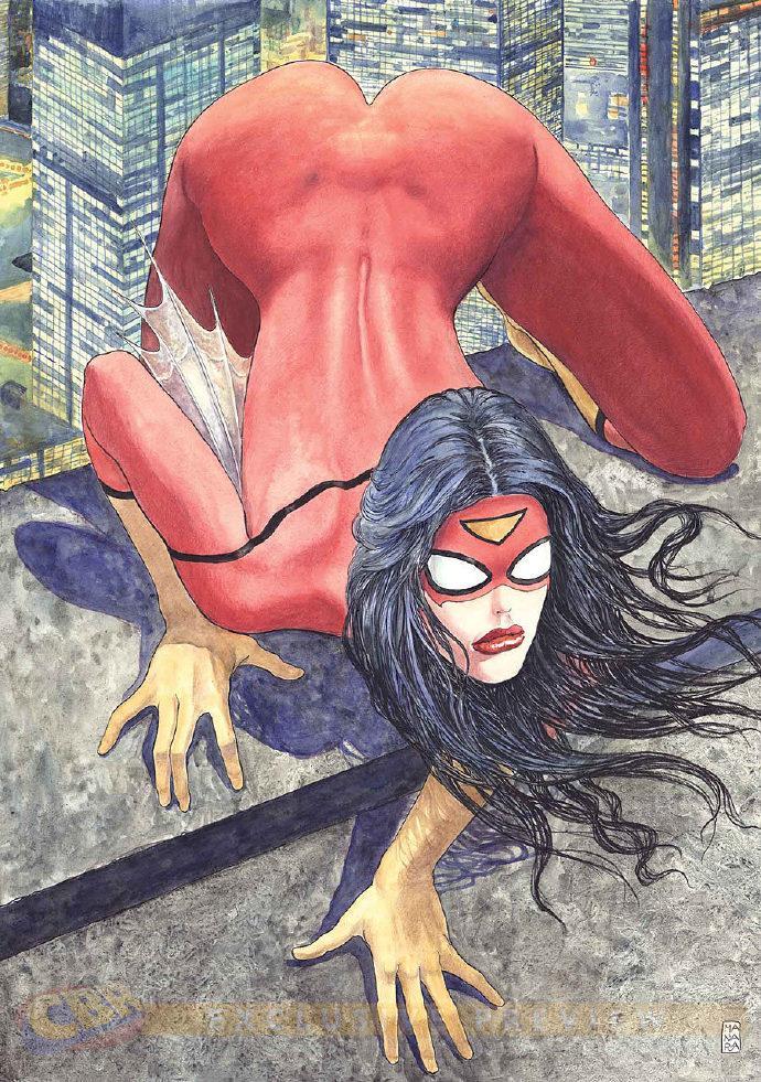 """漫威""""蜘蛛女""""变体封面遭批 被吐槽过于情色歧视女性"""