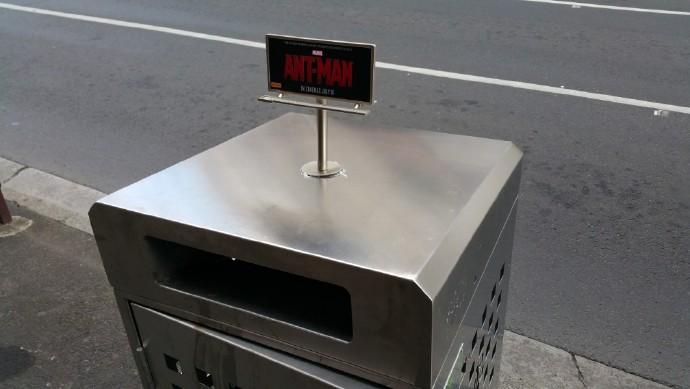 """《蚁人》""""巨型""""广告牌亮相澳洲街头 逗比宣传再出奇招"""
