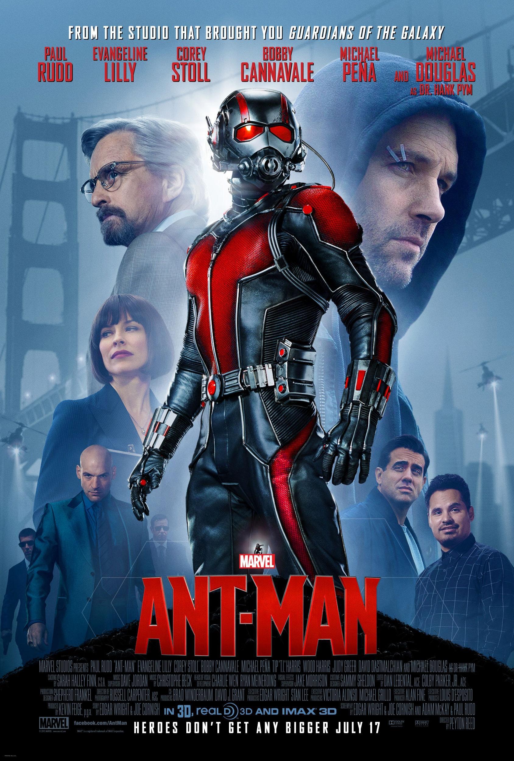 《蚁人》发布新款官方海报 小英雄终有大海报 重要角色悉数亮相