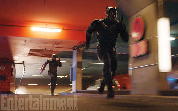 """《美国队长3:内战》登《娱乐周刊》封面,""""黑豹""""成亮点"""