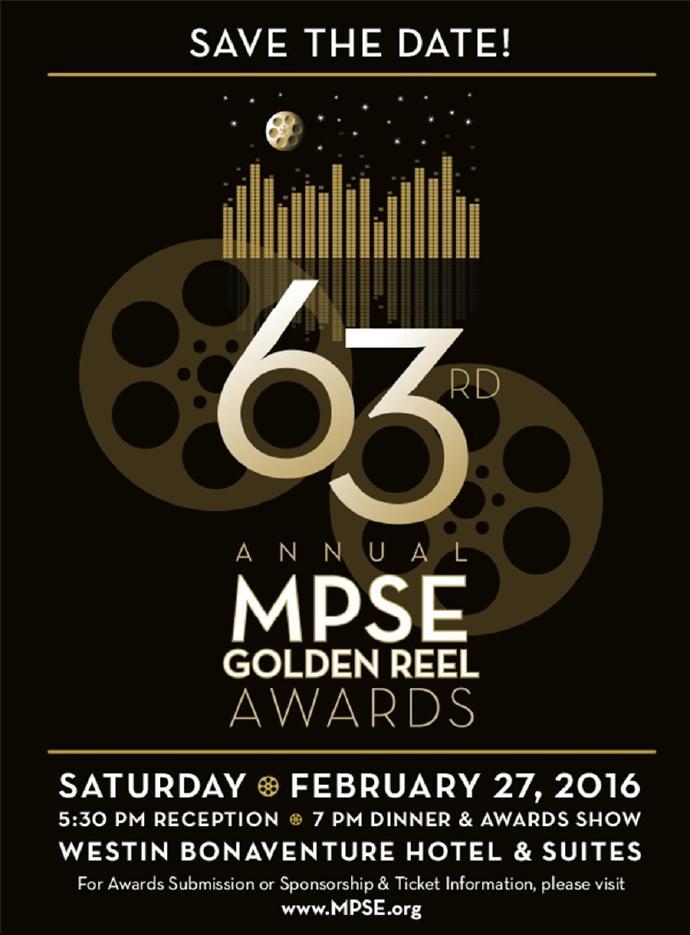 """第63届音效剪辑师协会""""金卷轴""""(Golden Reel Awards)奖提名"""