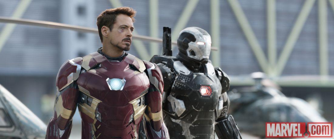 漫威曝光《美队3》官方剧照 钢铁被揍成熊猫眼 黑寡身手利落撂倒猛男