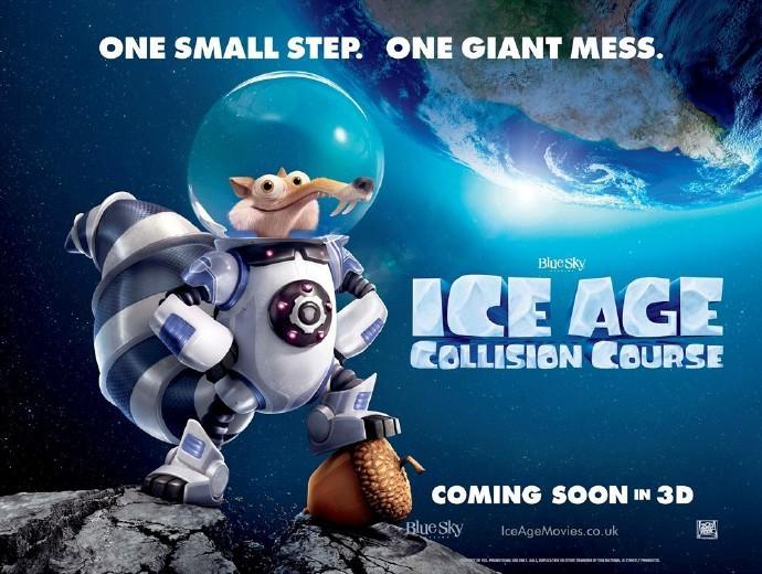 """《冰川时代5》再曝新预告 松鼠玩转""""地心引力"""" 救世主竟是神经质羊驼"""
