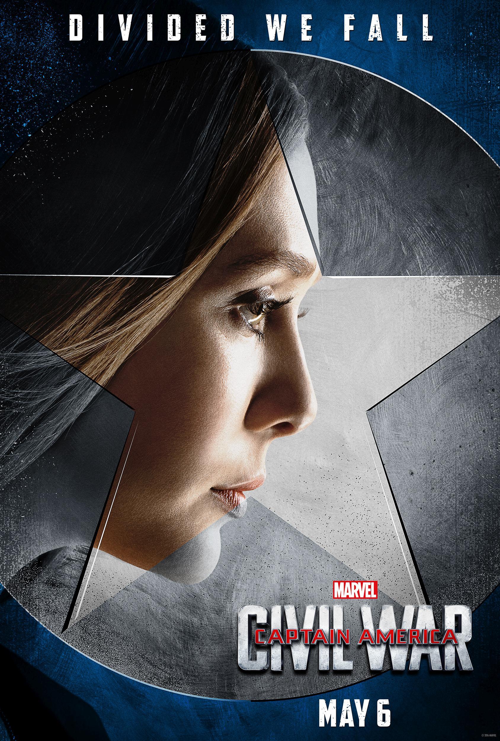 《美国队长3》(Captain America: Civil War)曝新款角色海报