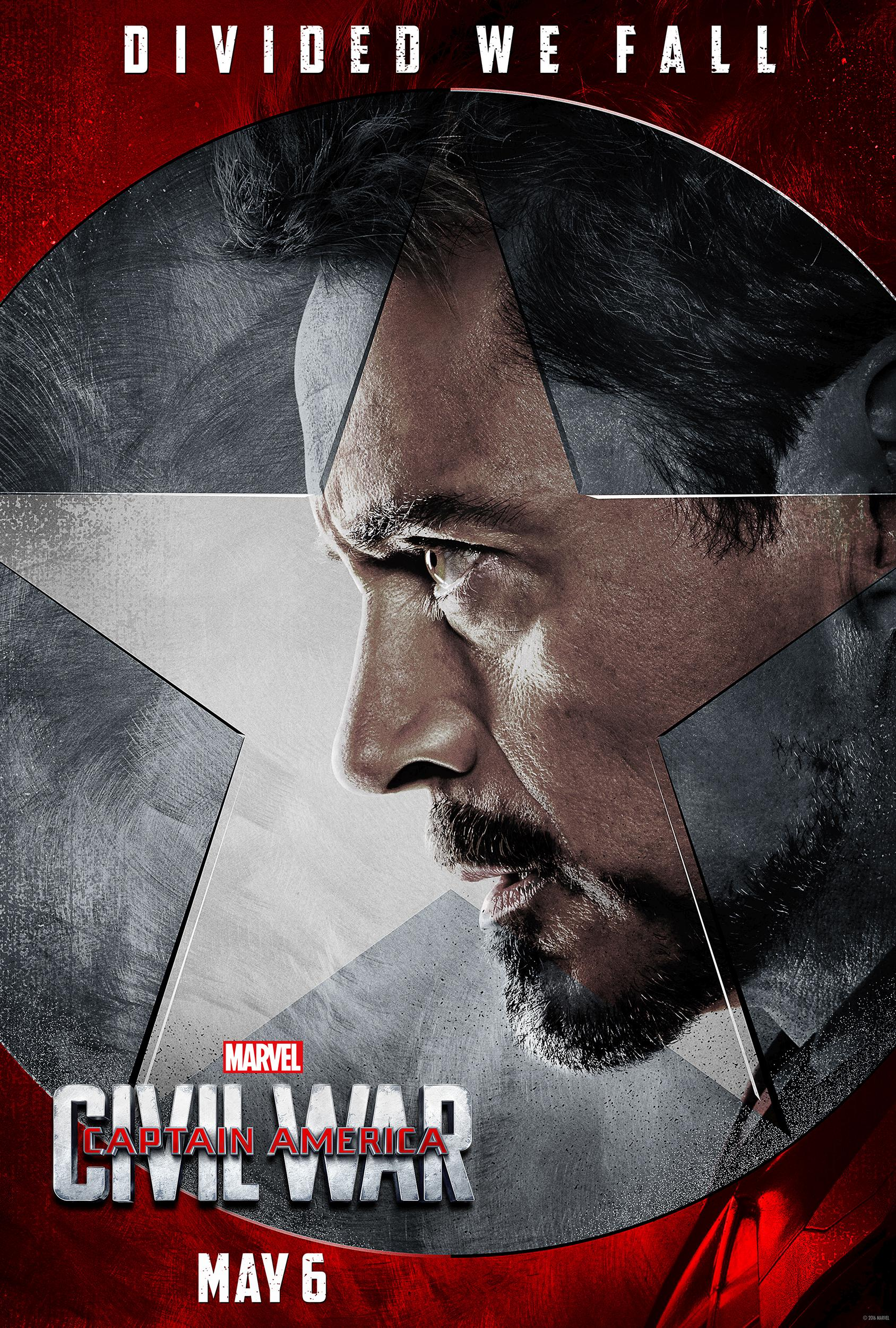 《美国队长3:内战》再曝光角色海报 钢铁侠战队登场 影片剧情时间表疑外泄