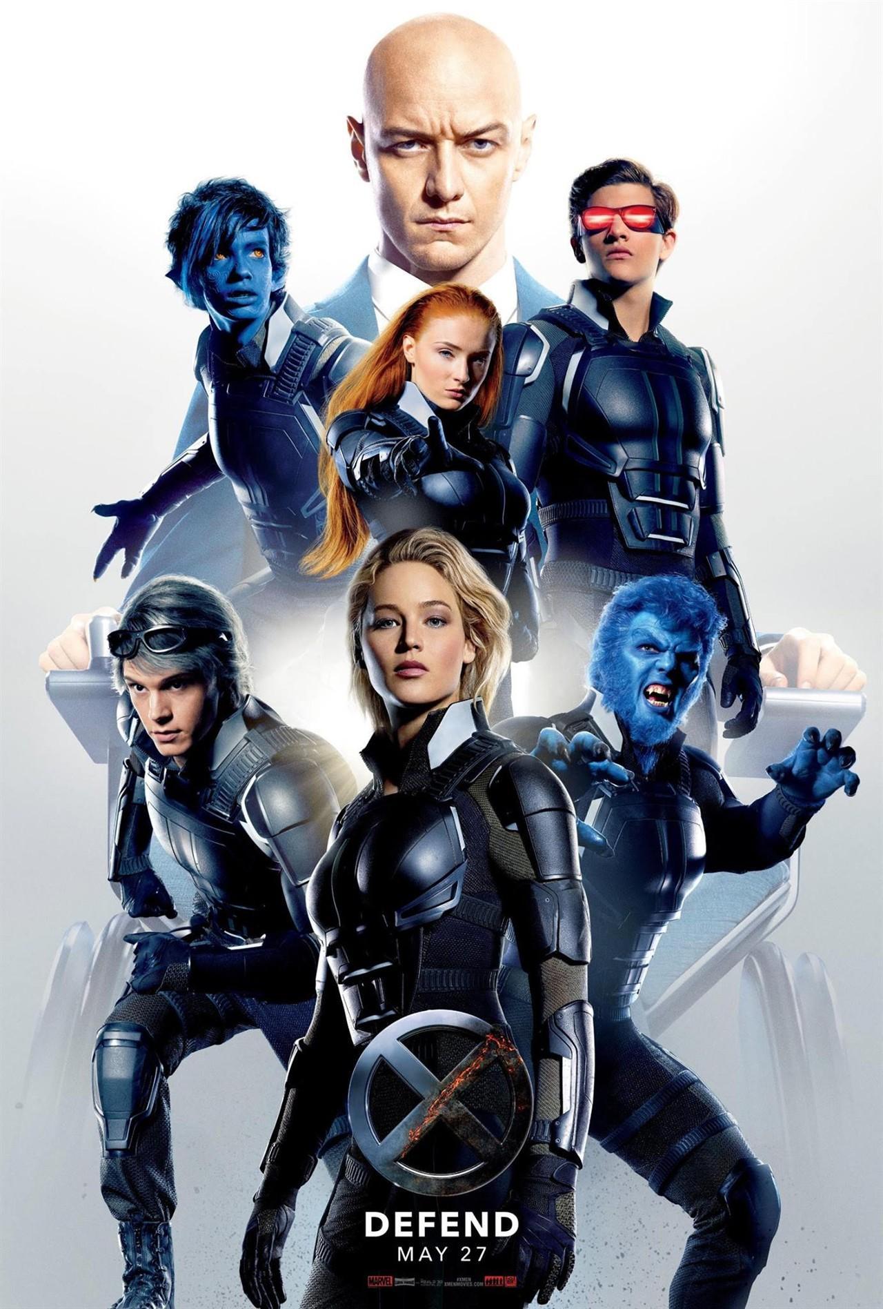 《X战警:天启》再发新海报 正义阵营集结 光头X教授神情严肃