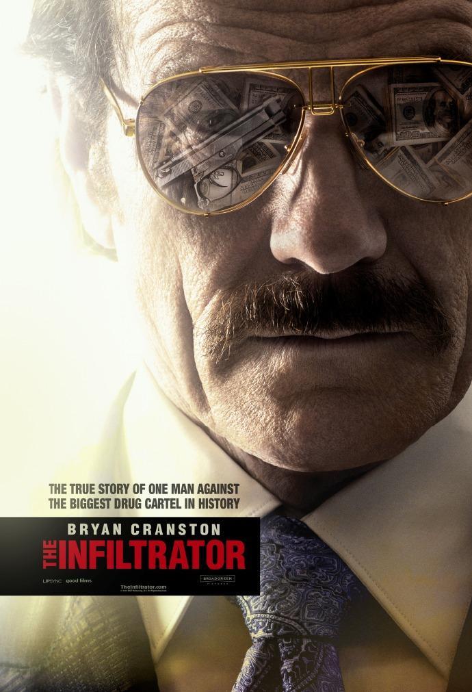 """犯罪片《潜伏者》(The Infiltrator)首曝预告 """"老白""""布莱恩·科兰斯顿化身联邦特工"""