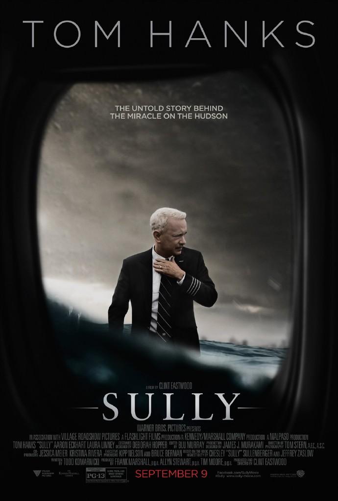 克林特·伊斯特伍德新片《萨利机长》(Sully)首曝预告 汤姆汉克斯扮演萨利