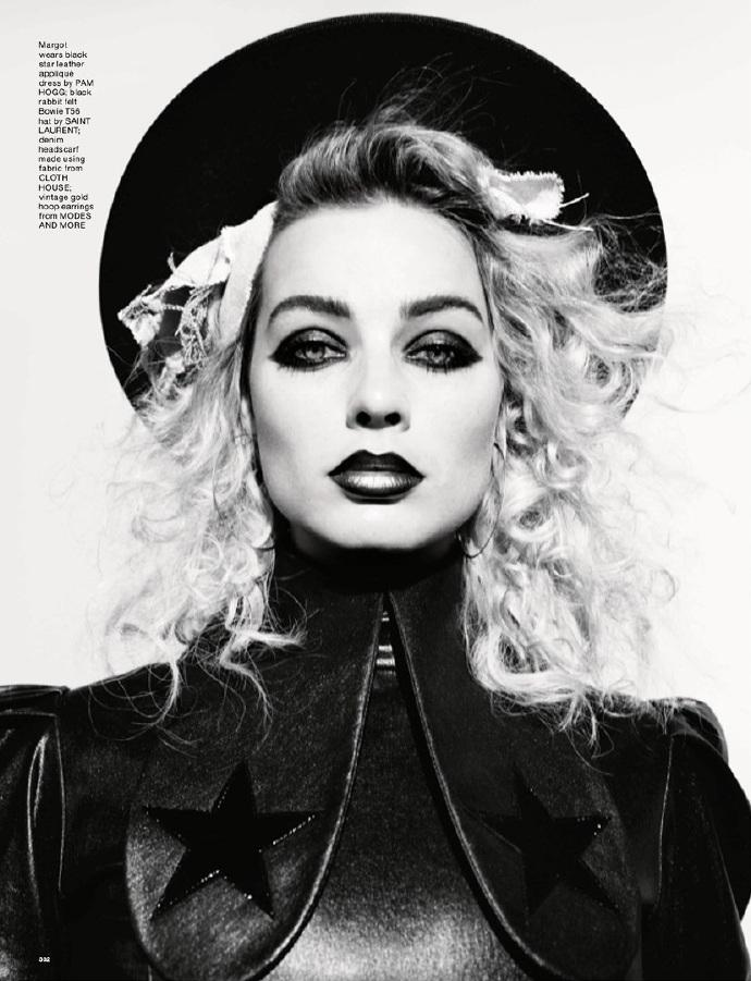 """""""小丑女""""玛歌特罗比(Margot Robbie)登杂志封面 邪魅眼妆勾勒彩色诱惑 黑白系放大冷峻"""