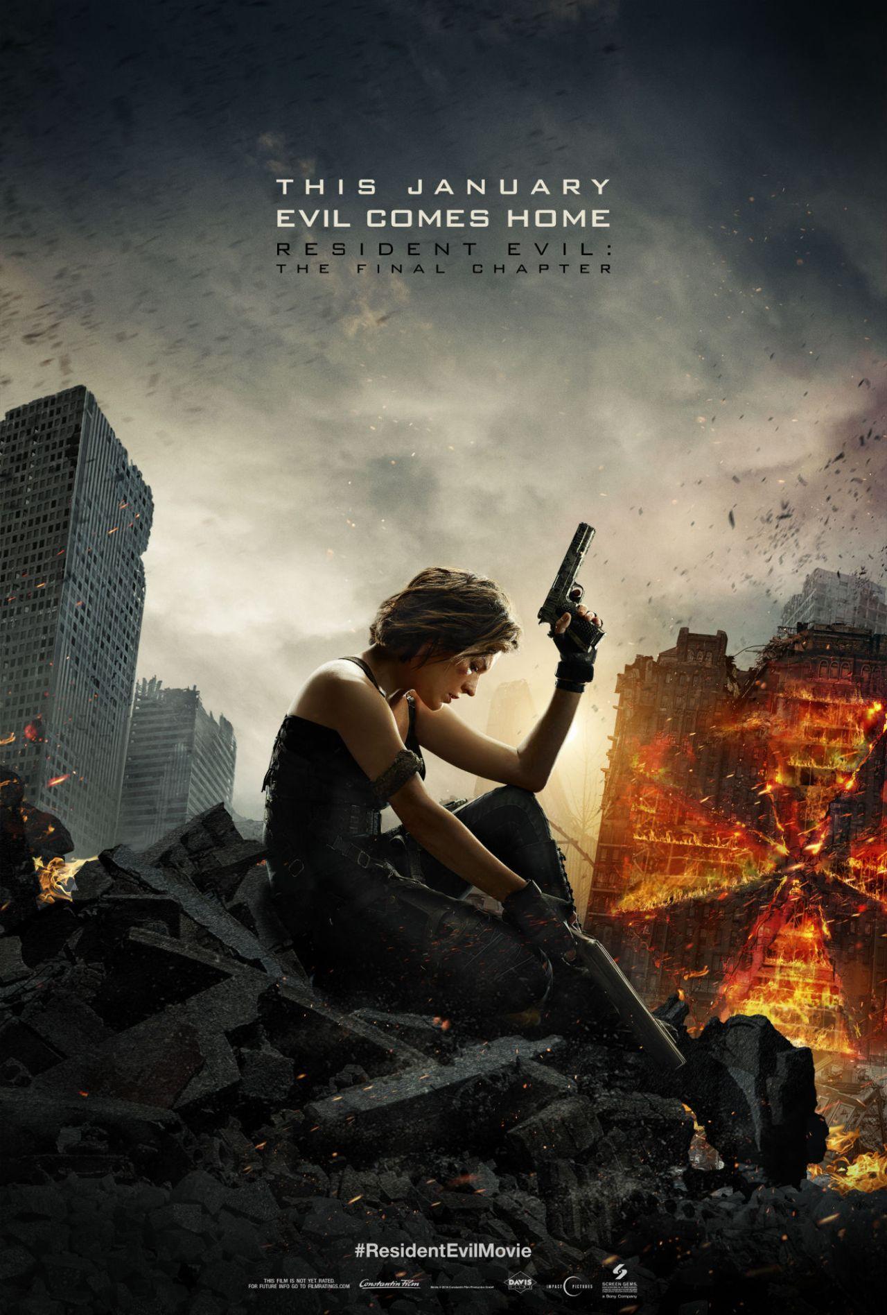 《生化危机6:终章》(Resident Evil: The Final Chapter)首曝预告片&新海报