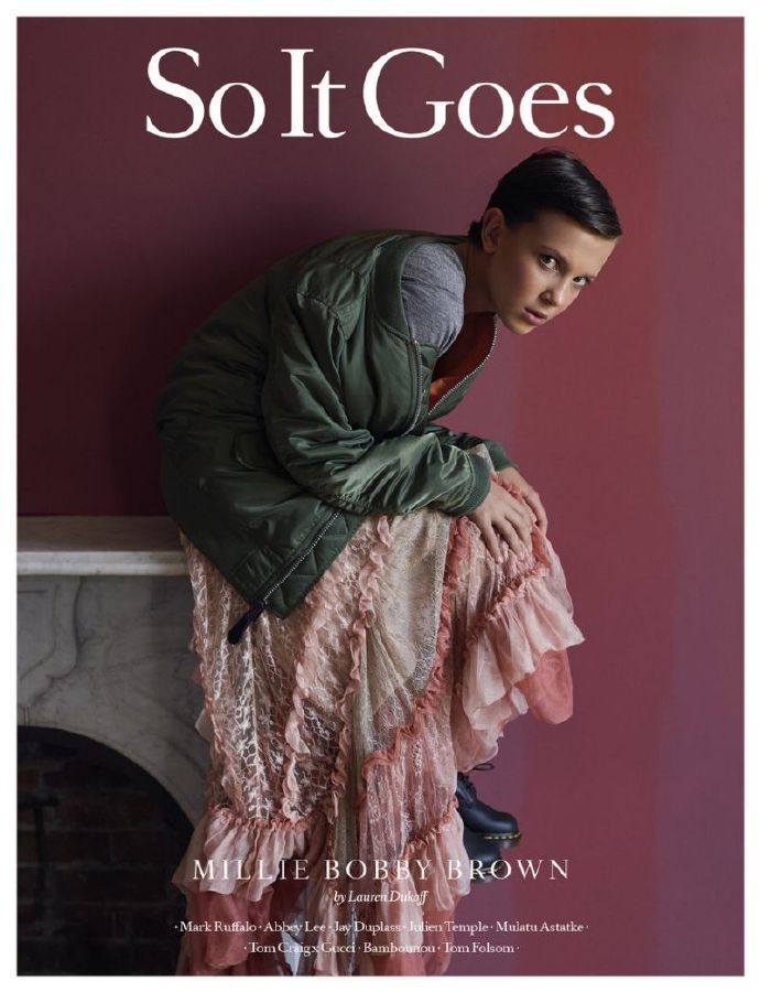 """小11""米莉·博比·布朗(Millie Bobby Brown)登上《So It Goes》杂志"