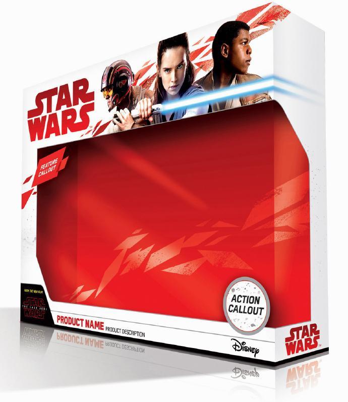 《星球大战8:最后的绝地武士》包装盒曝光Rey的新造型