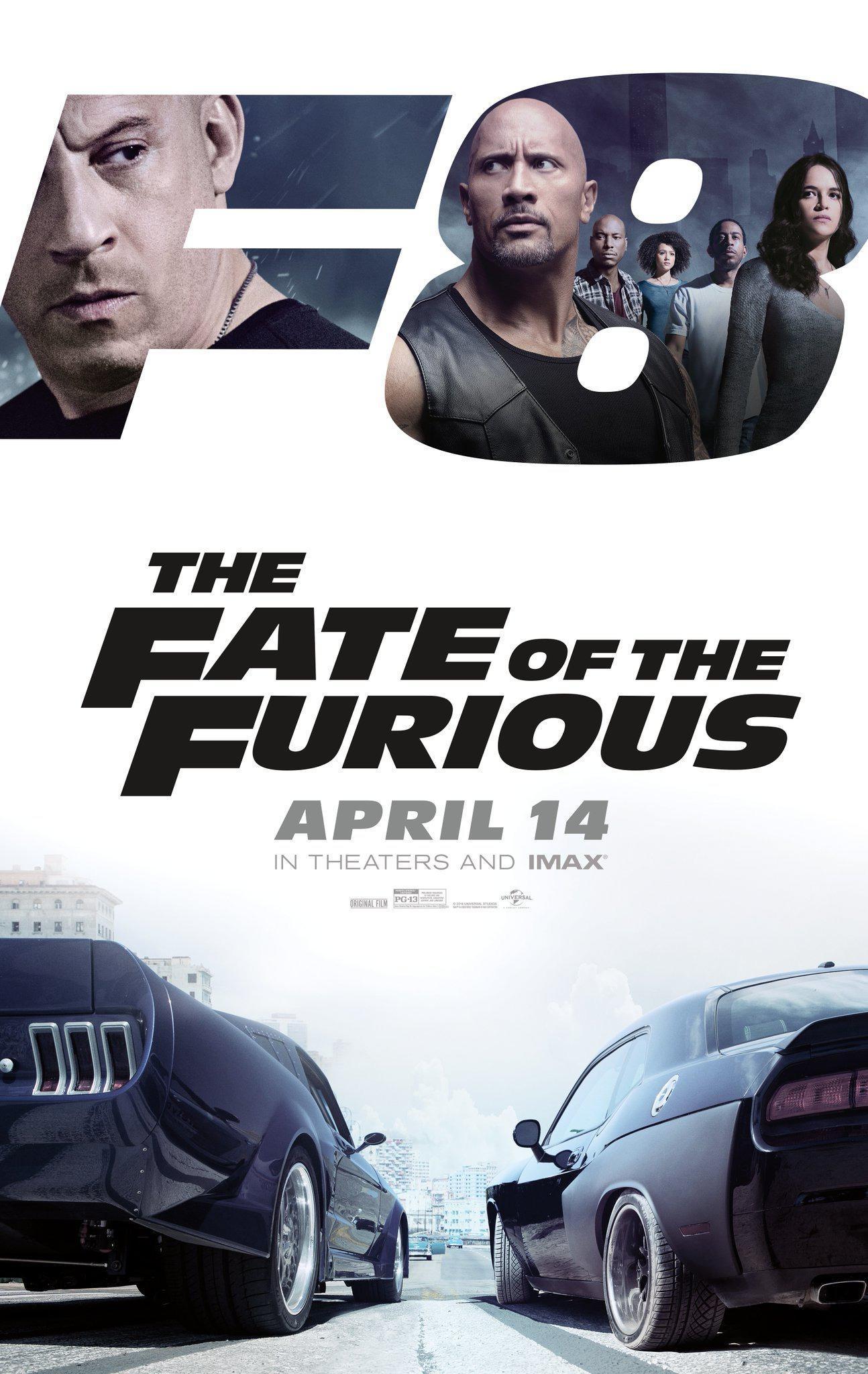《速度与激情8》曝IMAX海报暗示分裂