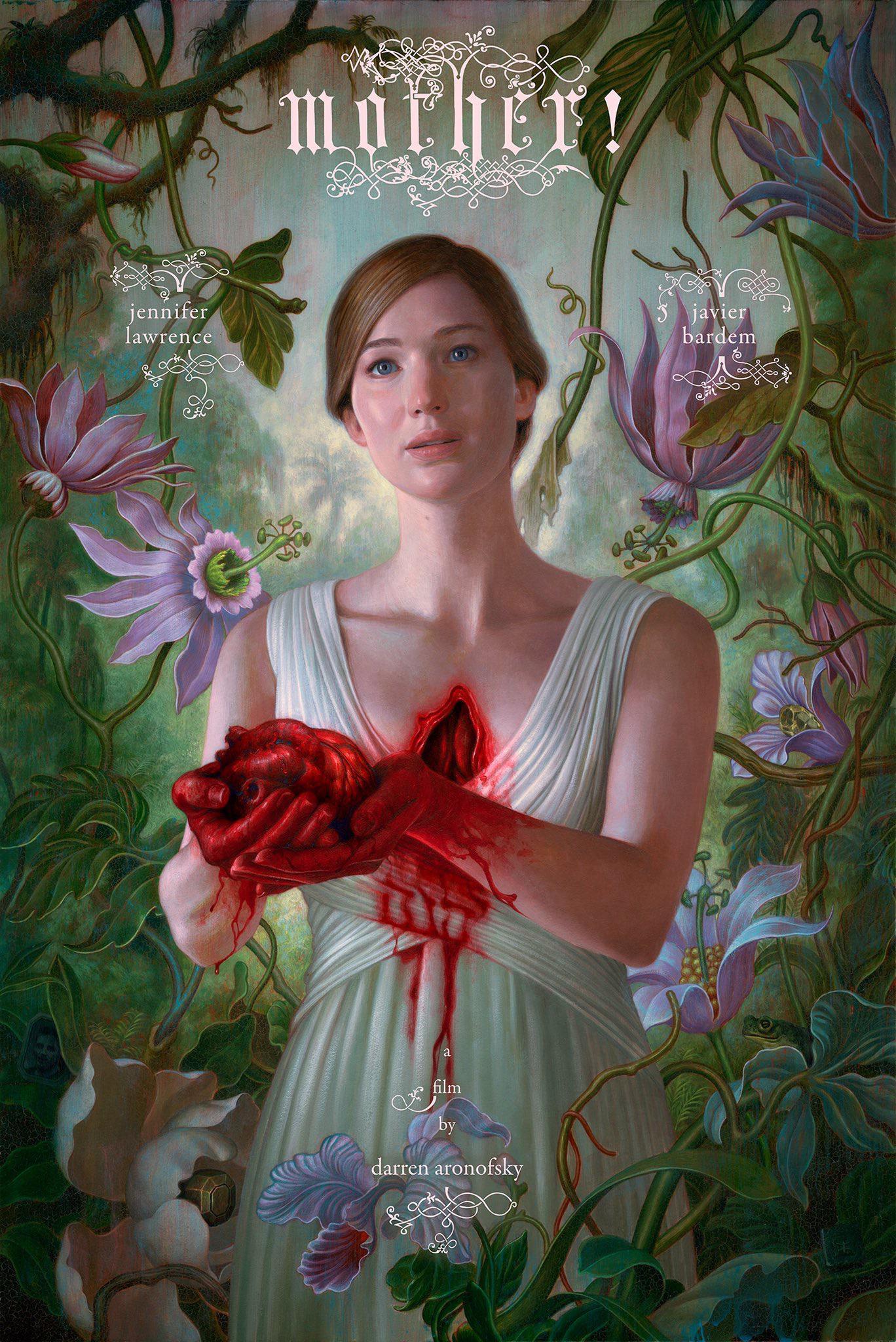 达伦·阿罗诺夫斯基《母亲》曝新预告 詹妮弗·劳伦斯掏出自己心脏