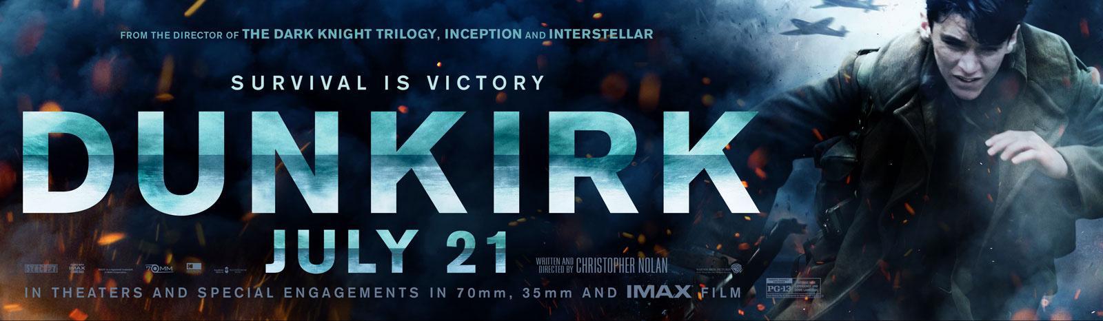 诺兰新片《敦刻尔克》(Dunkirk)再发海报