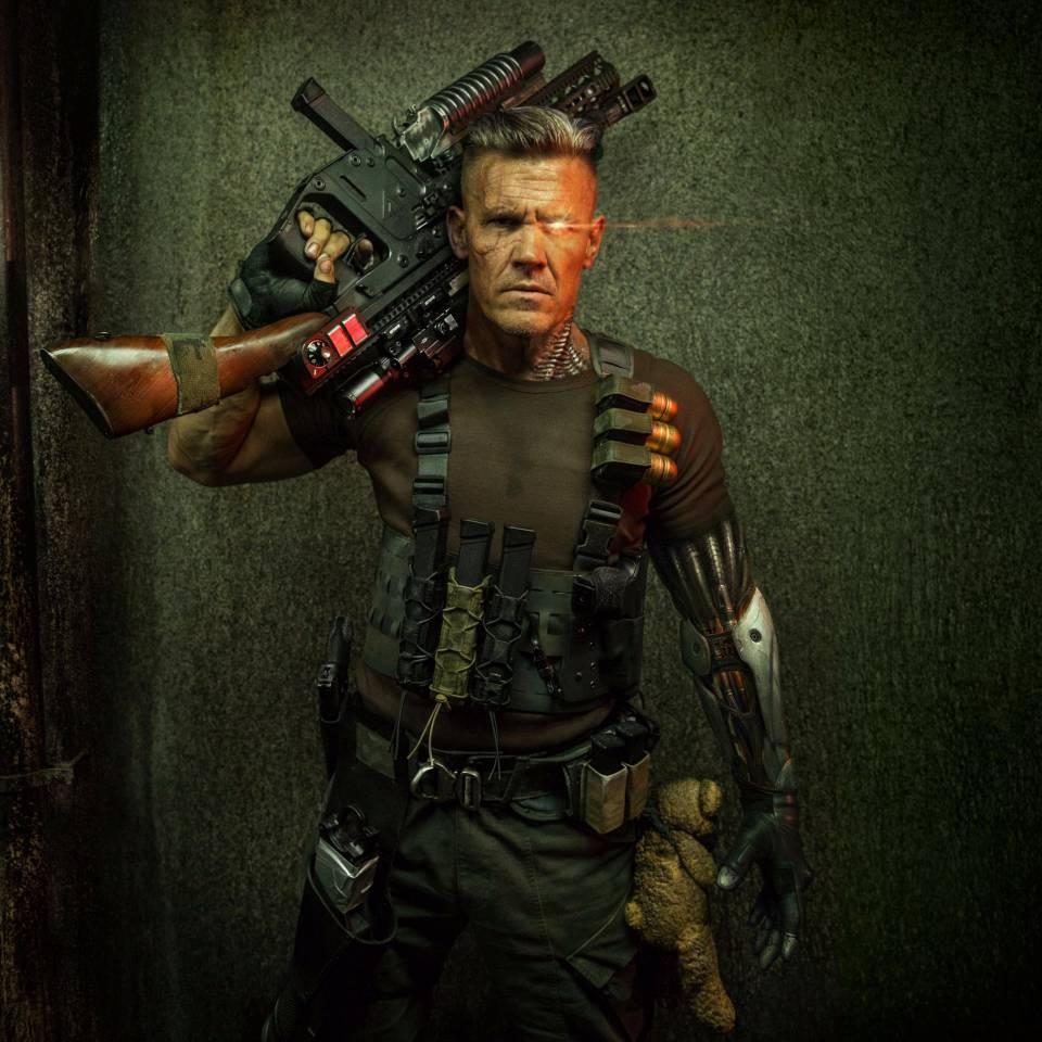 """乔什·布洛林(Josh Brolin)《死侍2》""""链锁""""(Cable)造型曝光"""