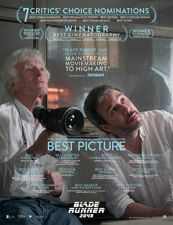 《银翼杀手2049》获音效剪辑师协会(MPSE)奖