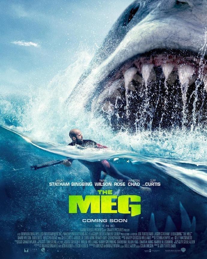 杰森·斯坦森《巨齿鲨》曝光新海报新预告