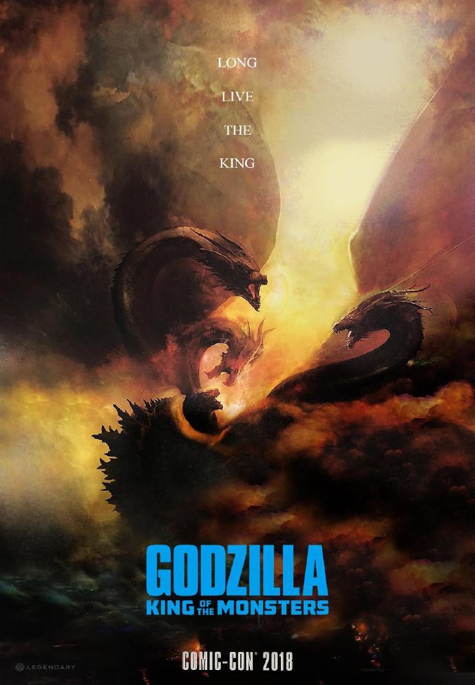 《哥斯拉:怪兽之王》曝SDCC限定海报及预告