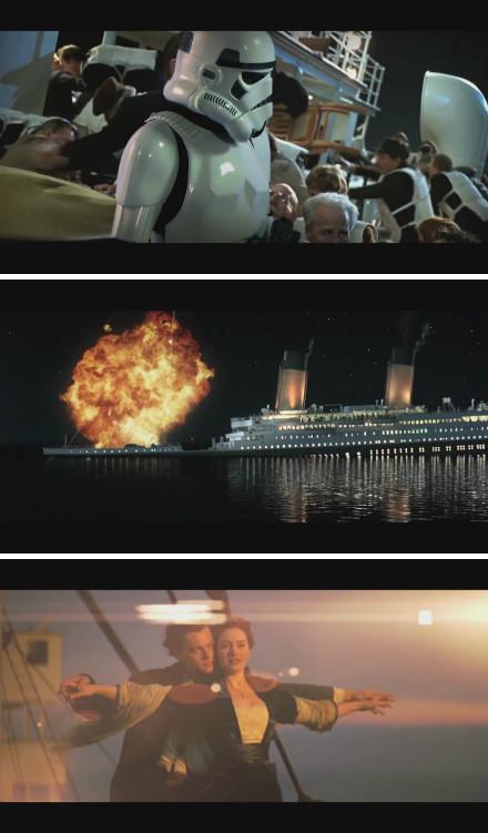 《泰坦尼克号》超级3D版恶搞预告