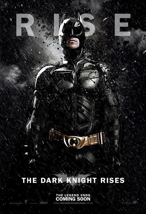 《黑暗骑士崛起》(The Dark Knight Rises)发布新角色海报 三主角沐浴黑雨