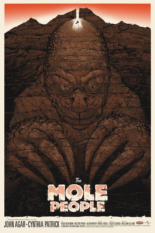 《鼹鼠人》(1956)艺术海报  来自Phantom City Creative
