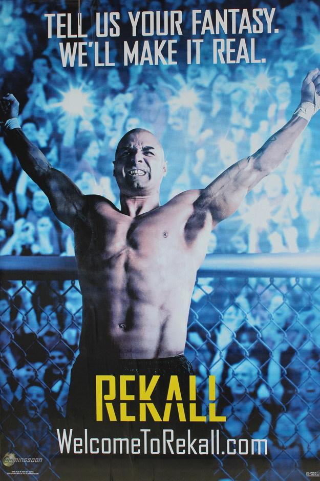 """《全面回忆》(Total Recall)街头病毒行销海报""""记得""""(Rekall)"""