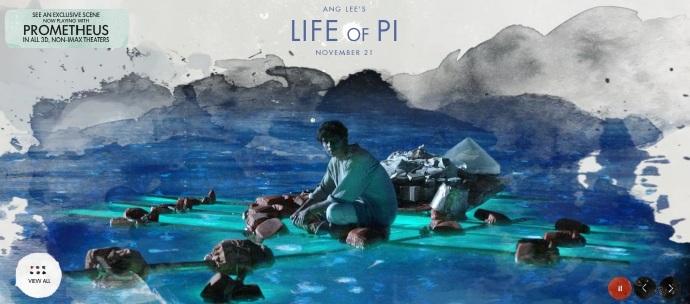 李安(Ang Lee)《少年Pi的奇幻漂流》(Life of Pi)电影官网开通