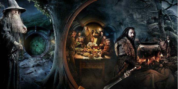 《霍比特人1:意外旅程》(The Hobbit)曝卷轴海报 熊人亮相一览史诗旅程