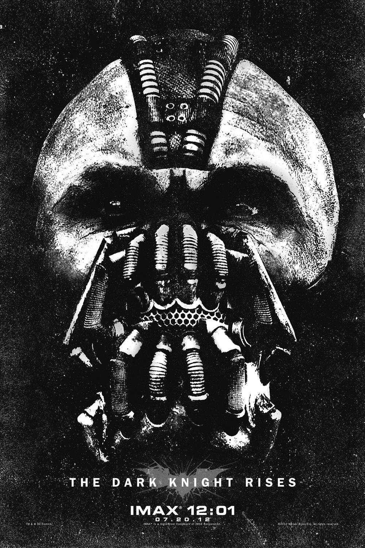 《蝙蝠侠:黑暗骑士崛起》(The Dark Knight Rises)最新IMAX海报 凶悍Bane亮相