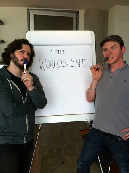 《僵尸肖恩》三部曲最后一部《世界尽头》(The World's End)发布先导海报