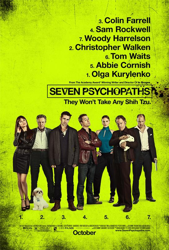 """""""杀手没有假期""""导演新作《七个变态》(Seven Psychopaths)曝预告及海报"""