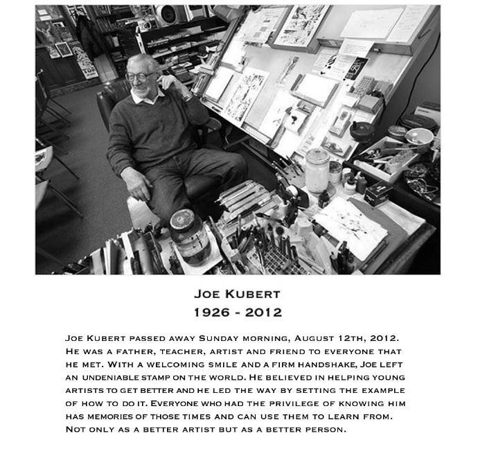 库伯特学院已暂时关闭,换上了追悼 乔·库伯特(Joe Kubert)的图文