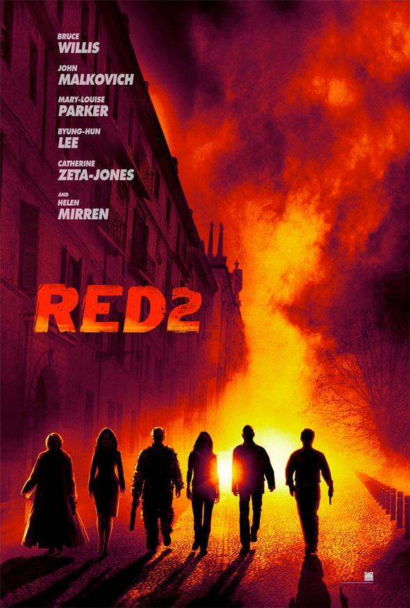 《赤焰战场2》(Red 2)首曝先导海报