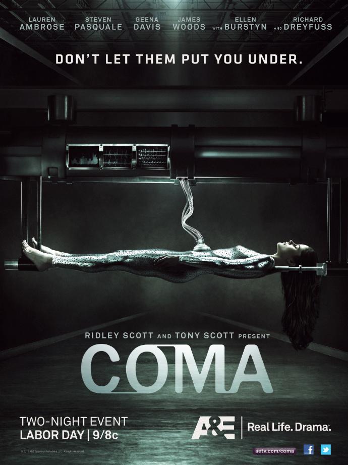 科幻迷你剧《昏迷》(Coma)开播 斯科特兄弟监制