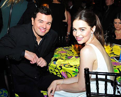 《泰迪熊》导演Seth McFarlane与《权力的游戏》龙女Emilia Clarke约会