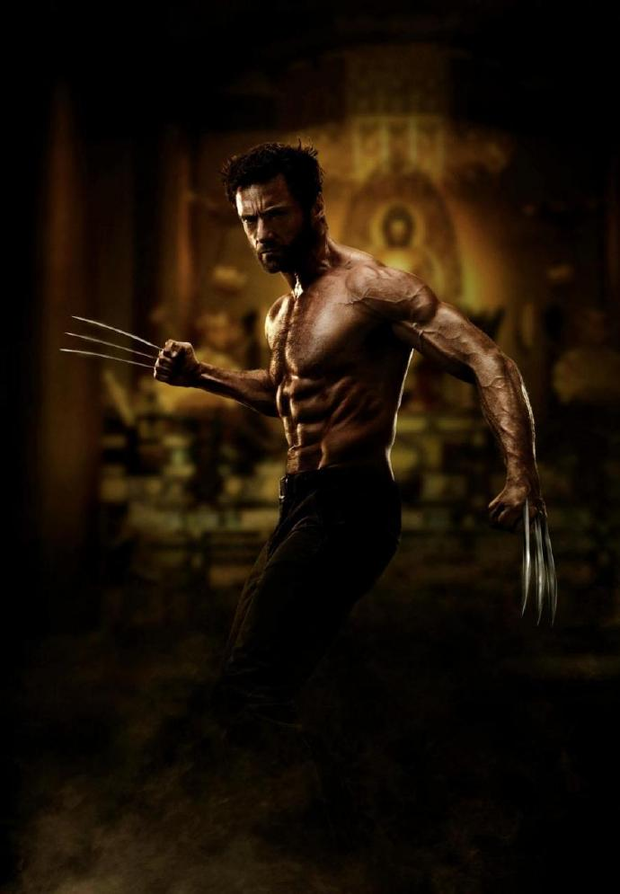 《金刚狼2》休·吉克曼(Hugh Jackman)肌肉造型曝光
