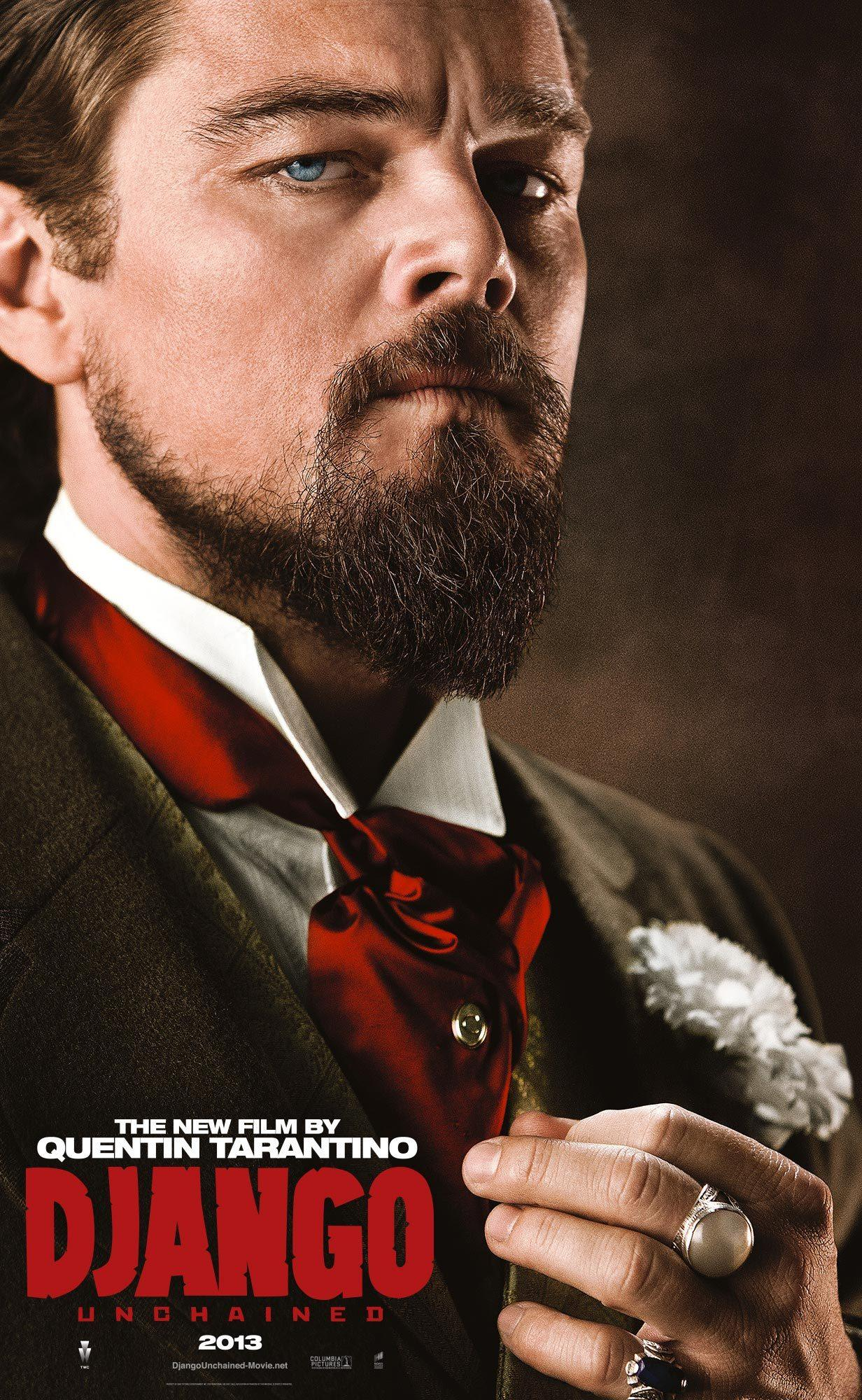 昆汀《被解放的迪亚戈》(Django Unchained)全角色海报 小李领衔五大主演