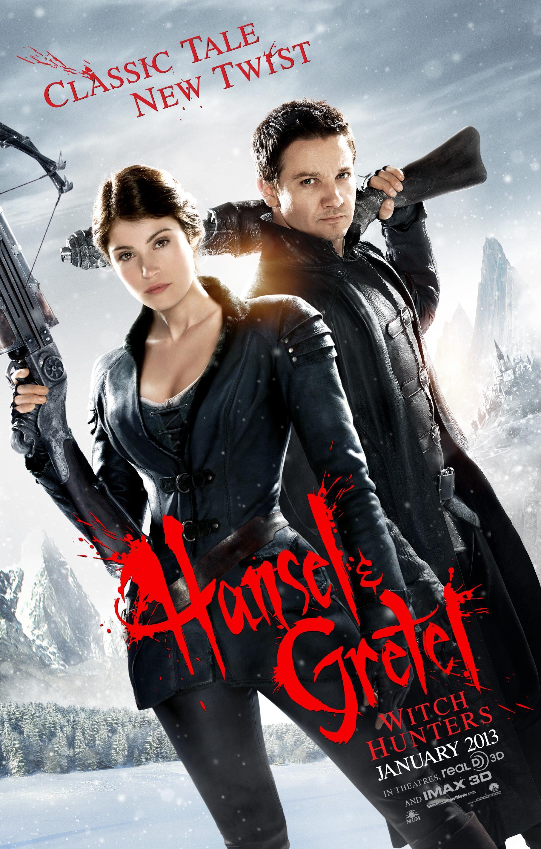 《韩赛尔与格蕾特:女巫猎人》(Hansel and Gretel: Witch Hunters)新曝海报限制级预告