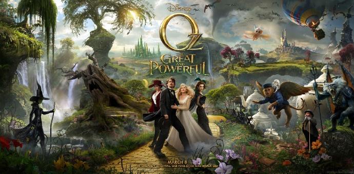 《魔境仙踪》(Oz the Great and Powerful)三联海报完整发布(超清大图)