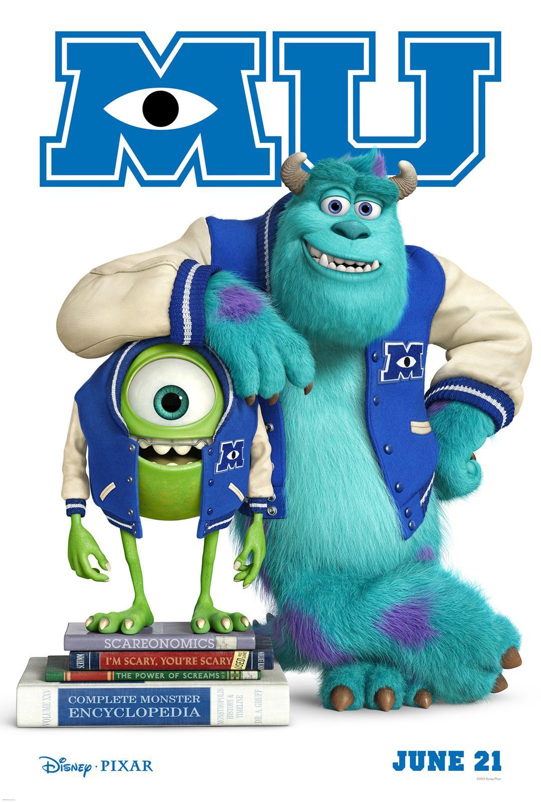 皮克斯《怪兽大学》(Monsters University)首曝海报 展现怪兽校园生活