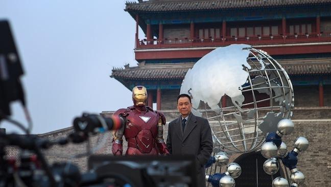 《钢铁侠3》(Iron Man 3)北京拍摄现场