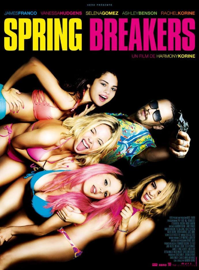 《春假》(Spring Breakers)首曝预告 钢牙詹姆斯弗兰科携辣妹团桃色诱惑