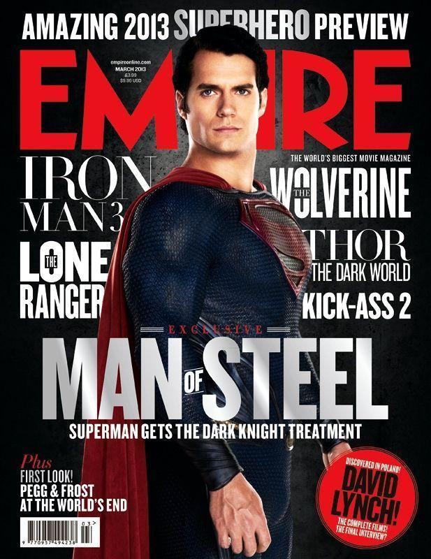 《超人:钢铁之躯》(Man of Steel)登上帝国杂志封面